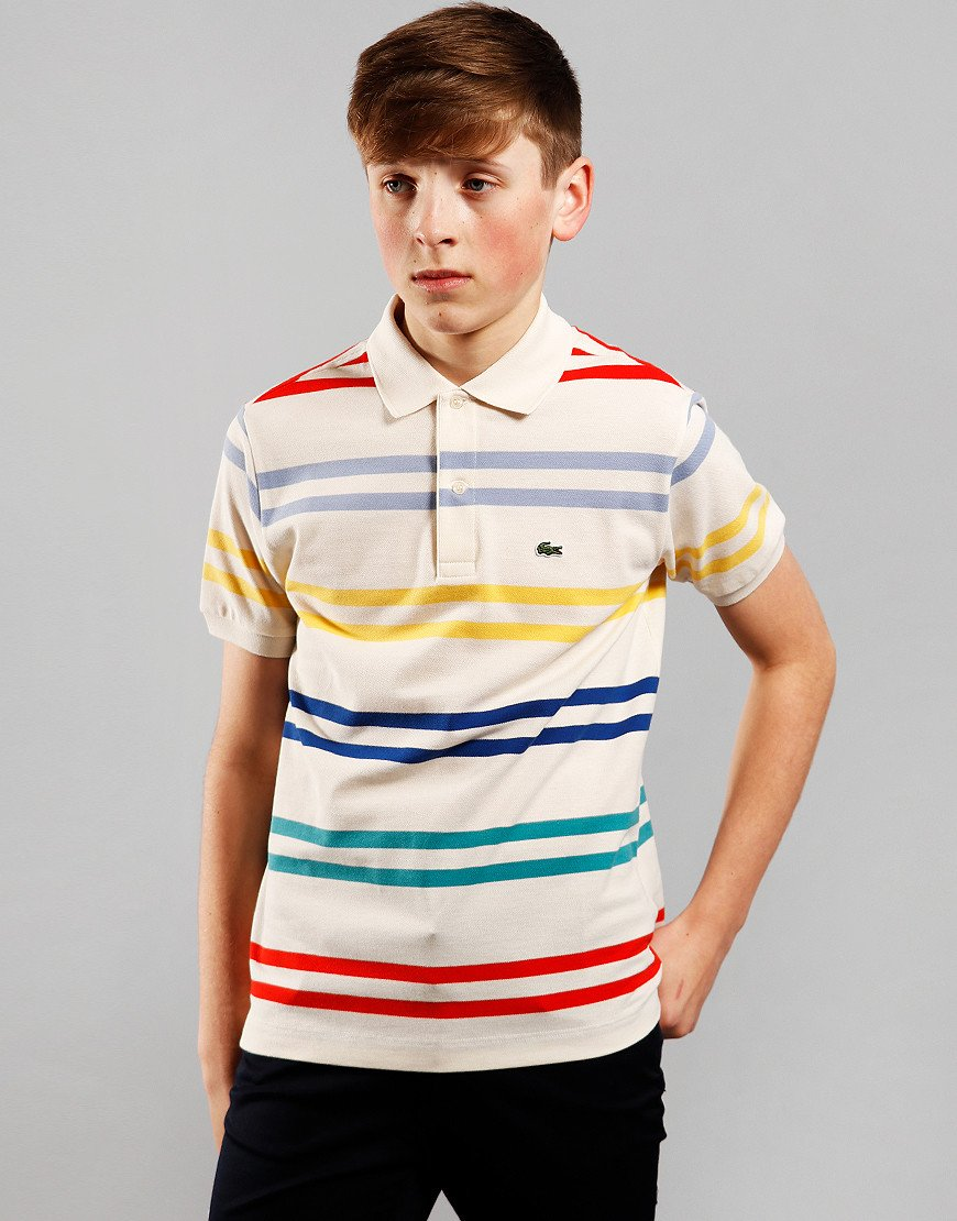 Lacoste Kids Striped Polo Shirt Lapland/Multi
