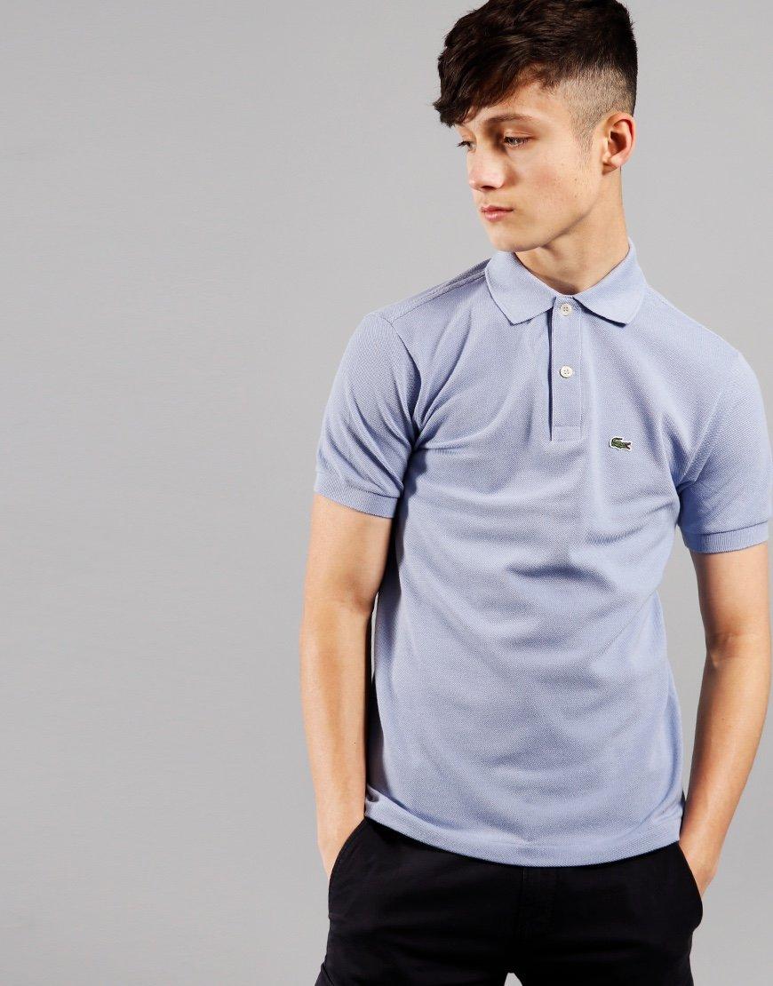 Lacoste Kids Plain Polo Shirt Purpy