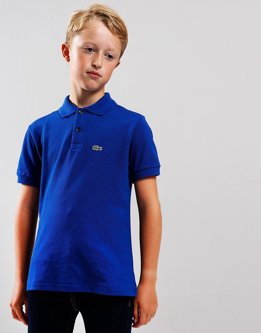 Lacoste Kids Plain Polo Shirt Captain