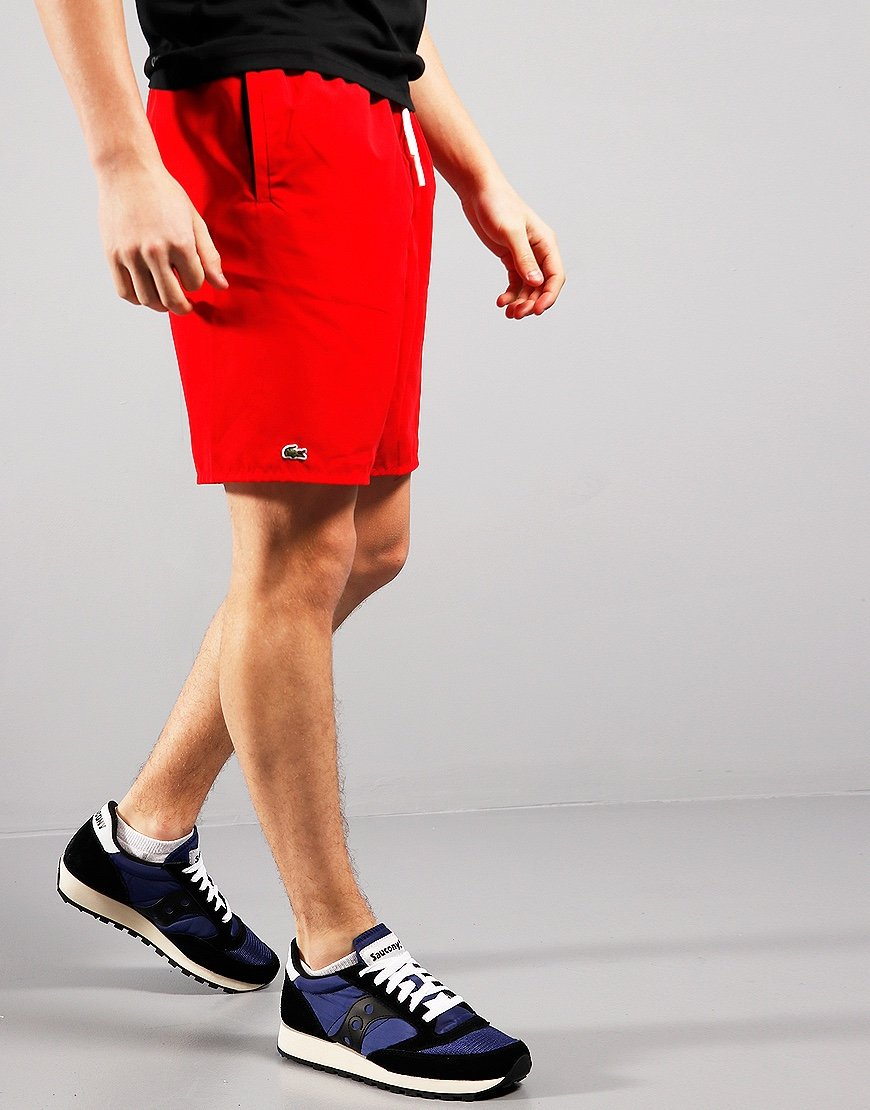 Lacoste Kids Plain Swim Shorts Red/Navy Blue