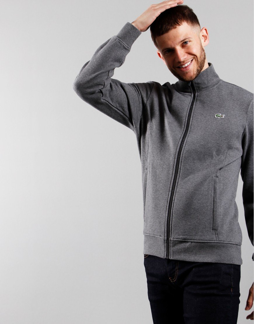 Lacoste SPORT Fleece Zip Sweat Pitch Chine / Graphite