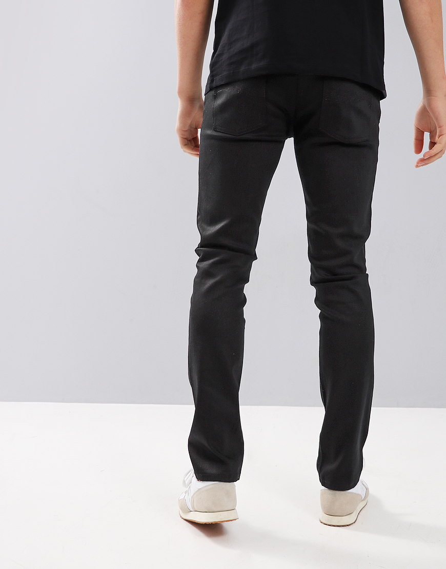 Nudie Lean Dean Slim Fit Jeans Dry Ever Black