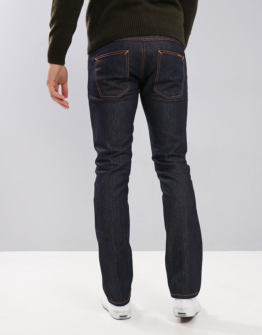 Nudie Grim Tim Slim Fit Jeans Dry Open Navy