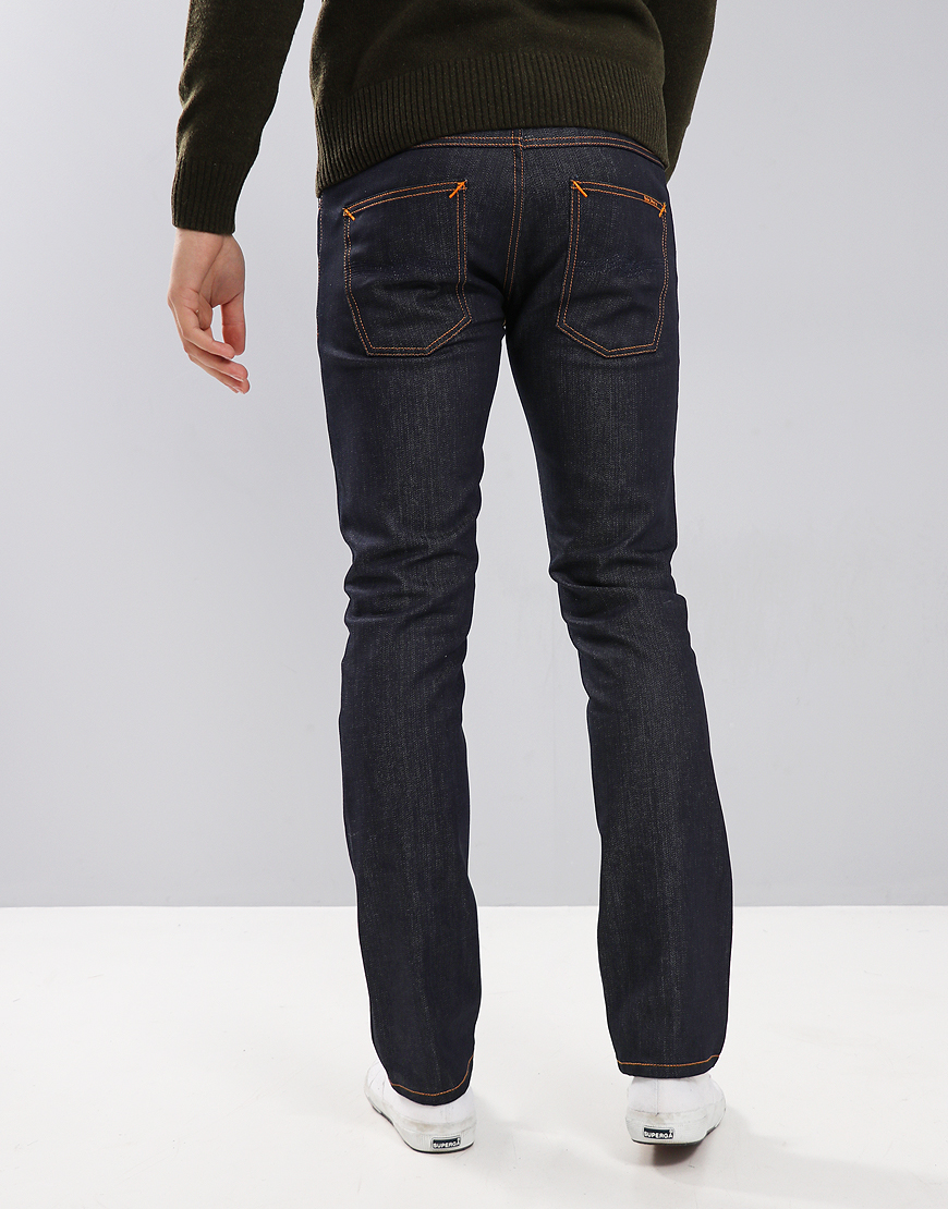 Nudie Lean Dean Slim Fit Jeans Dark Blues