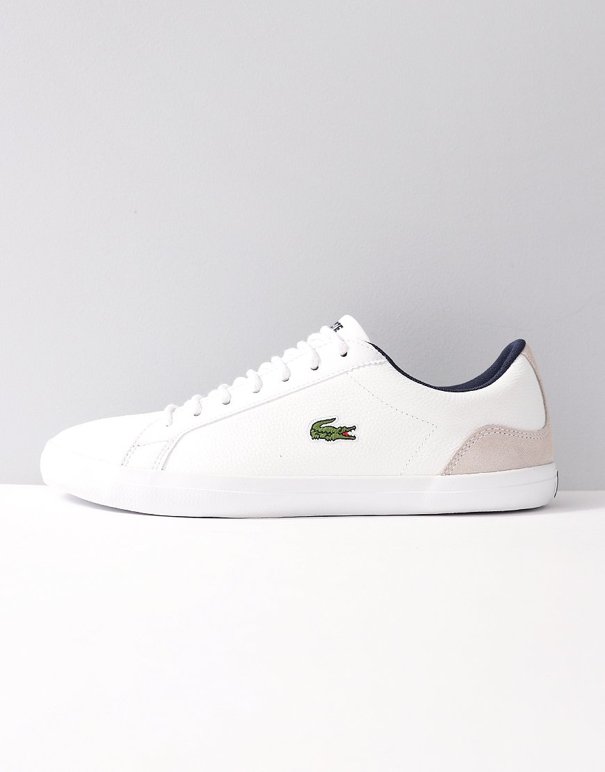 Lacoste Lerond Leather and Suede Trainers White