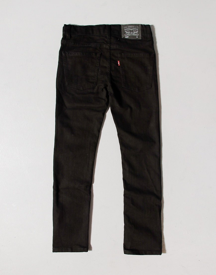 Levi's Kids 510 Skinny Jeans Black Stretch