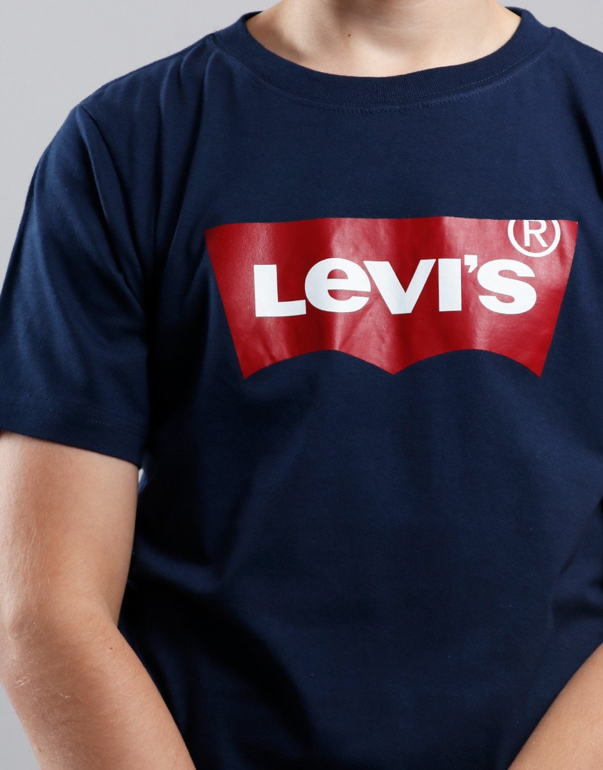 Levi's Kids Logo Print T-Shirt Dress Blues
