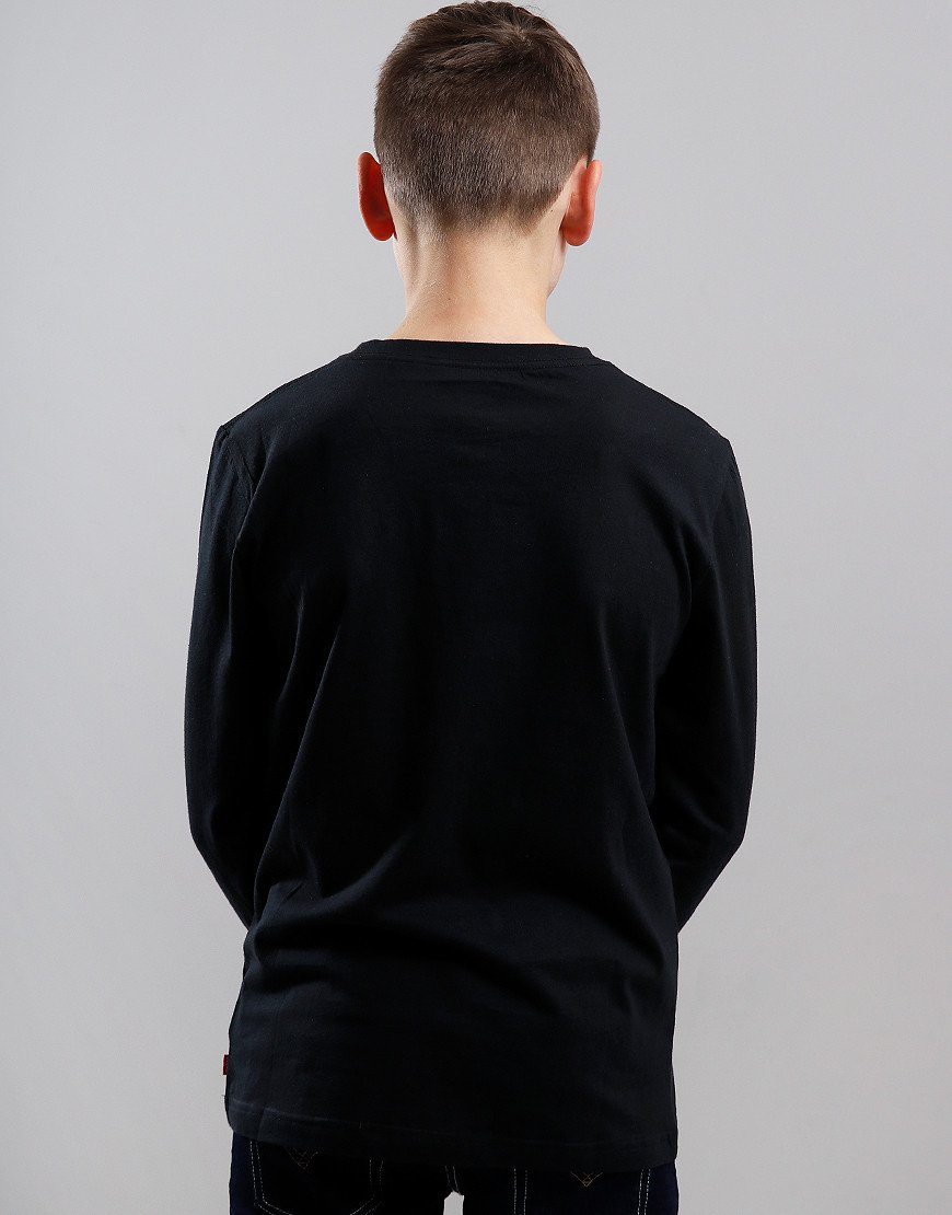 Levi's Kids Long Sleeve Logo Print T-Shirt Black