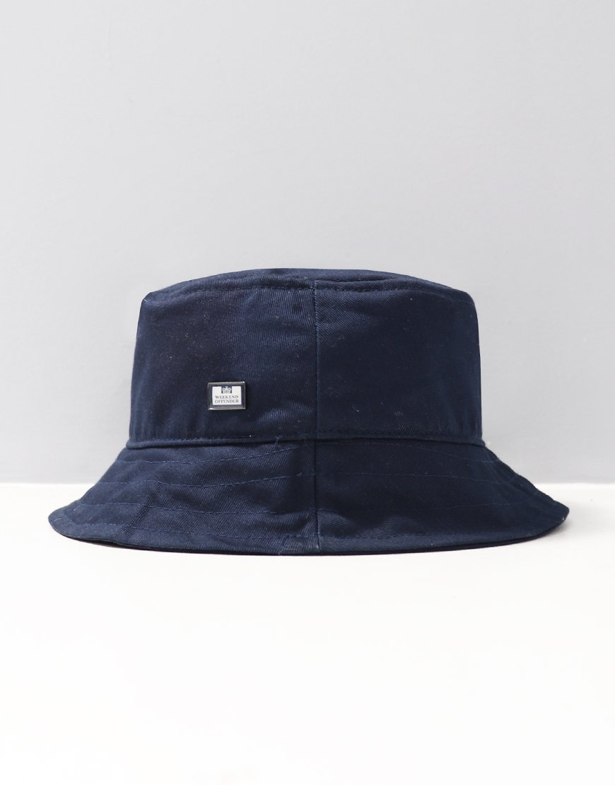 Weekend Offender Liam Bucket Hat Navy - Terraces Menswear c371710a1ff
