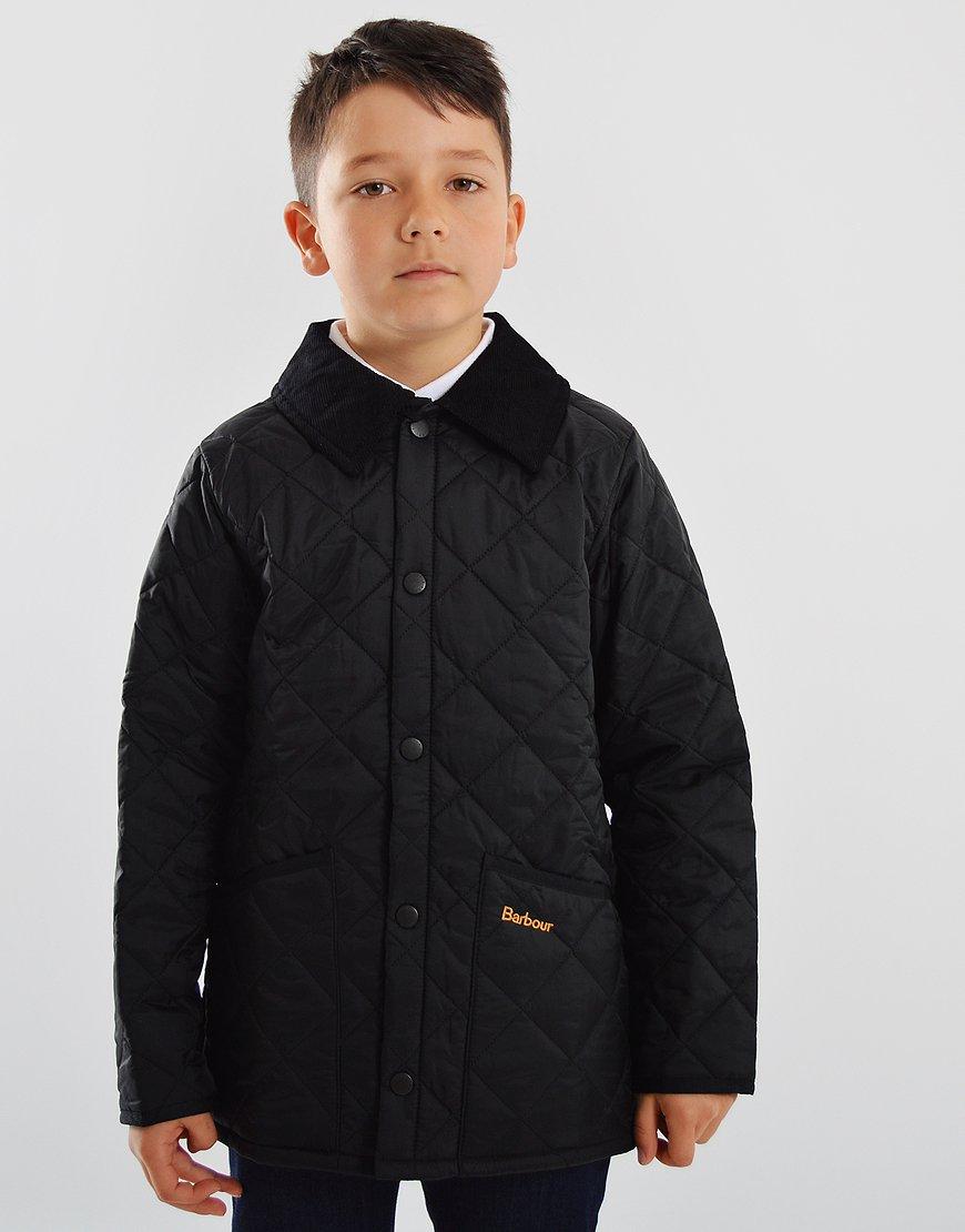Barbour Children Liddesdale Quilted Jacket Black