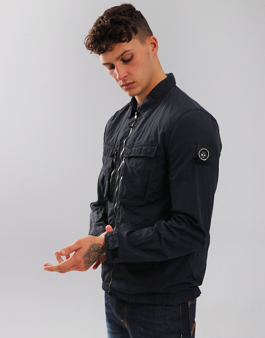 Marshall Artist Garment Dyed Overshirt Navy
