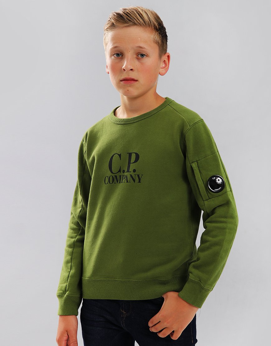 C.P. Company Kids Logo Lens Sweat Pesto