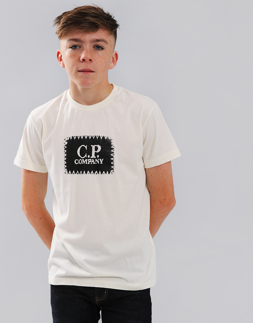 C.P. Company Kids Label Print T-Shirt Gauze White