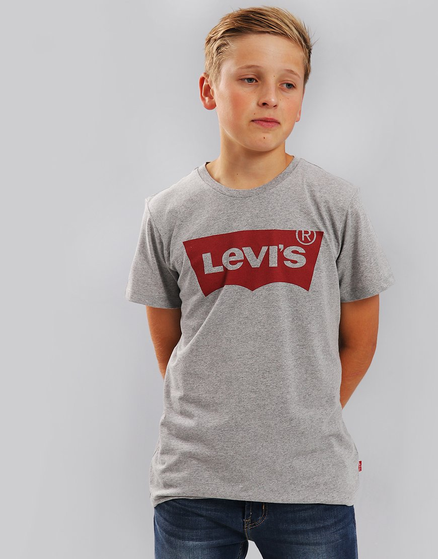 Levi's Kids Logo Print T-Shirt Grey