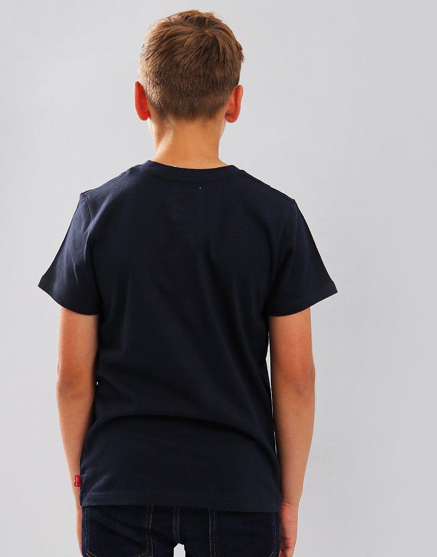 Levi's Kids Logo Print T-Shirt Marine