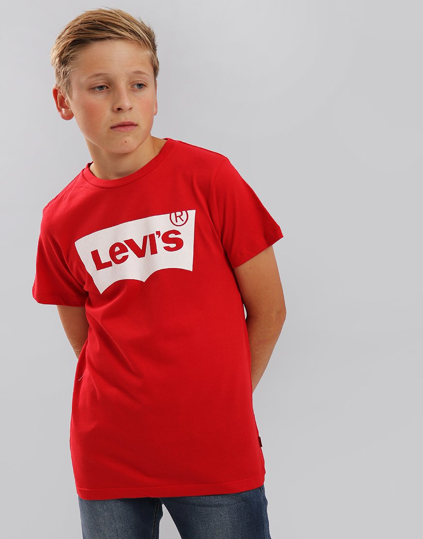 Levi's Kids Logo Print T-Shirt Red