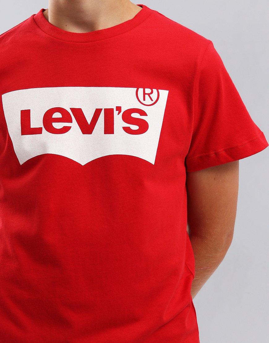 Levi's Kids Logo Print T-Shirt Red