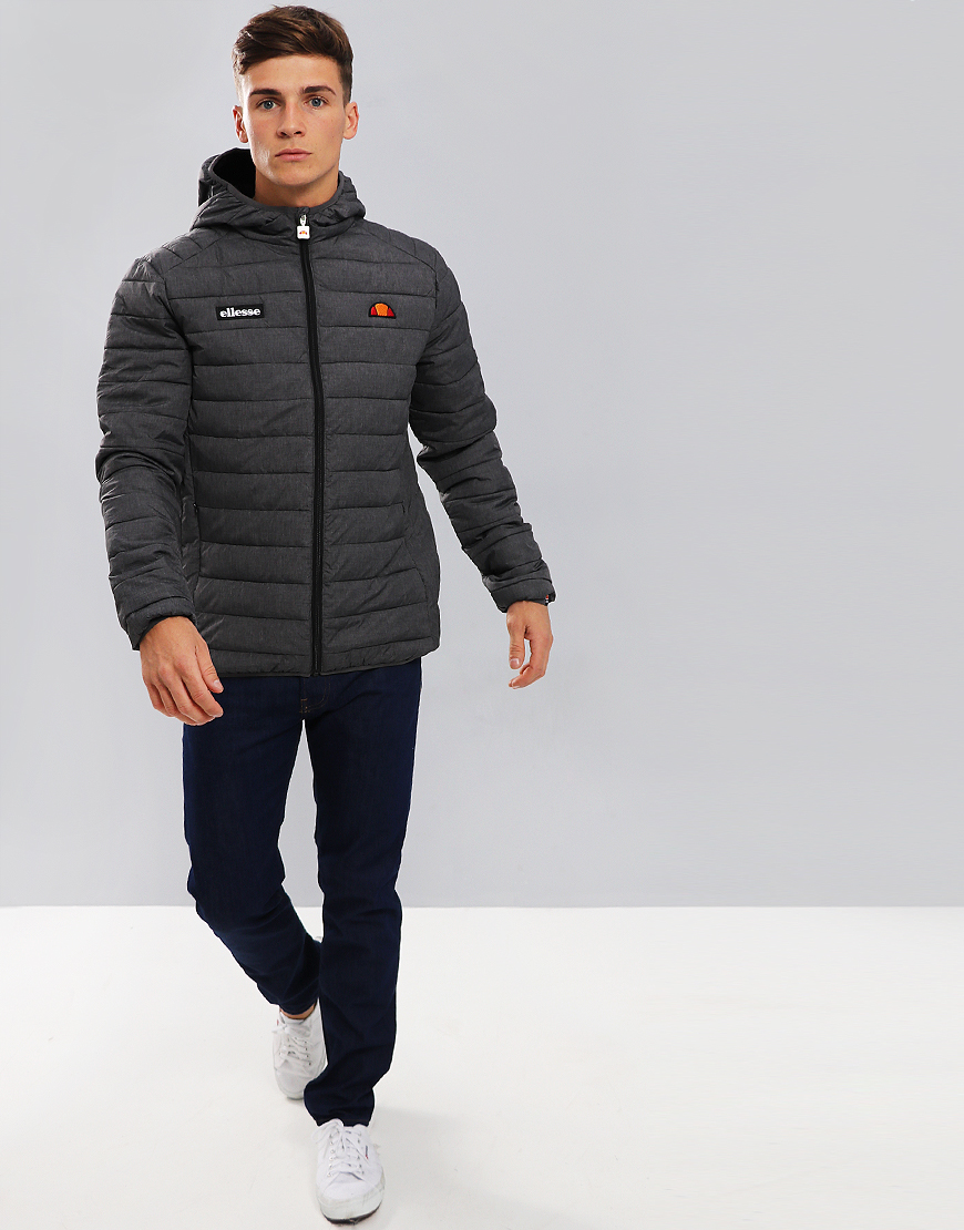 Ellesse Lombardy Puffer Jacket Grey Grindle