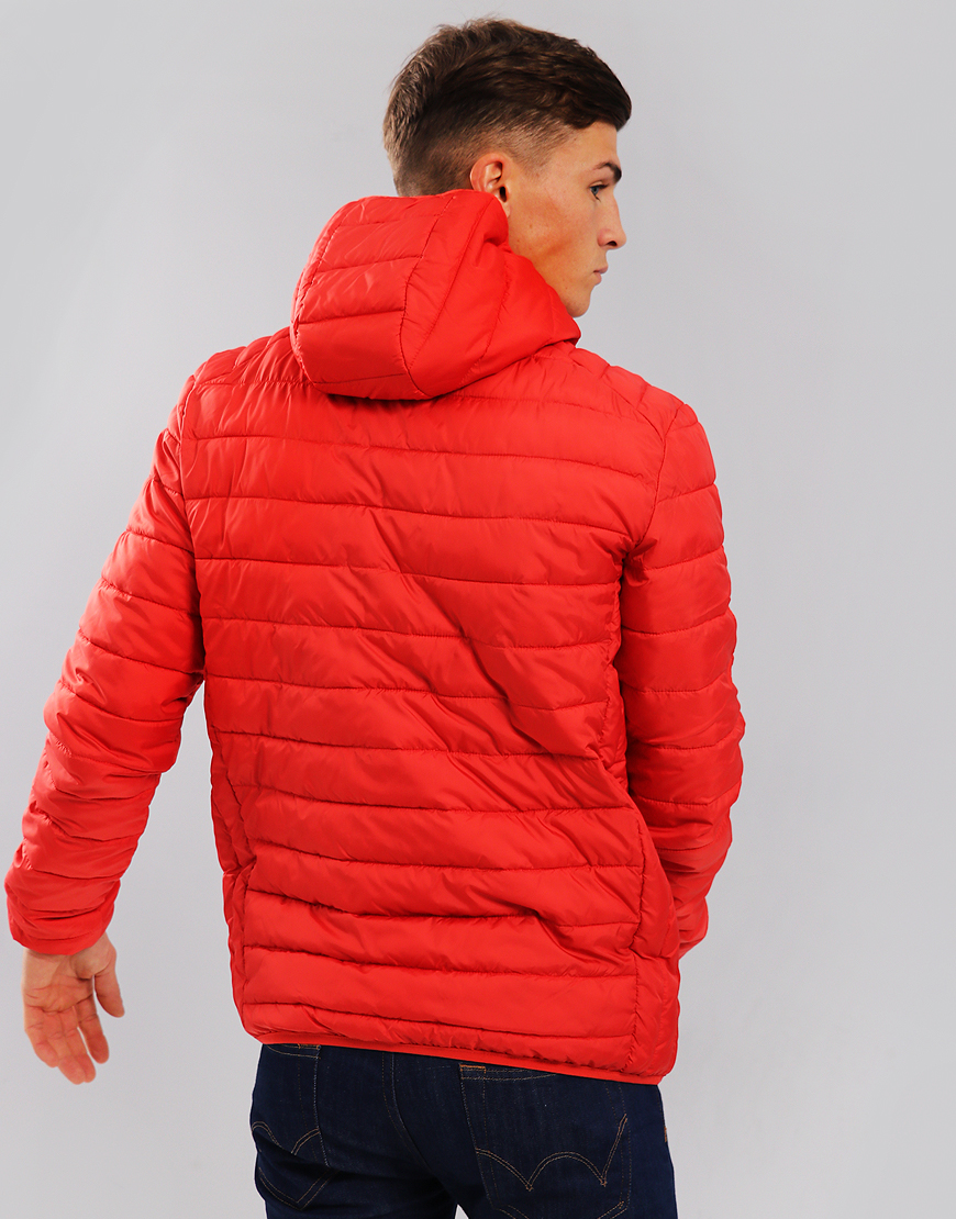 Ellesse Lombardy Puffer Jacket Scarlet Red