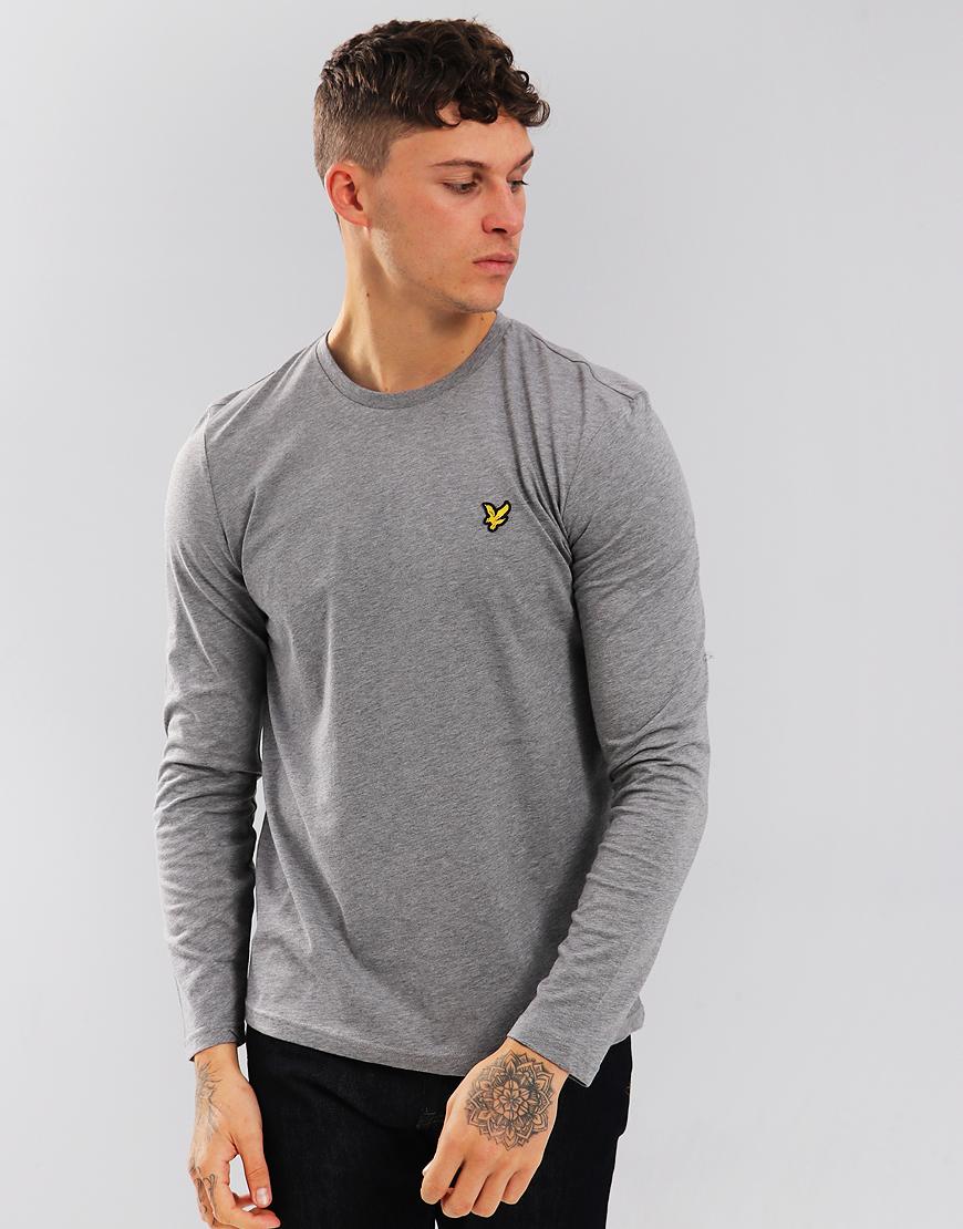 Lyle & Scott Long Sleeve T-Shirt Mid Grey  Marl
