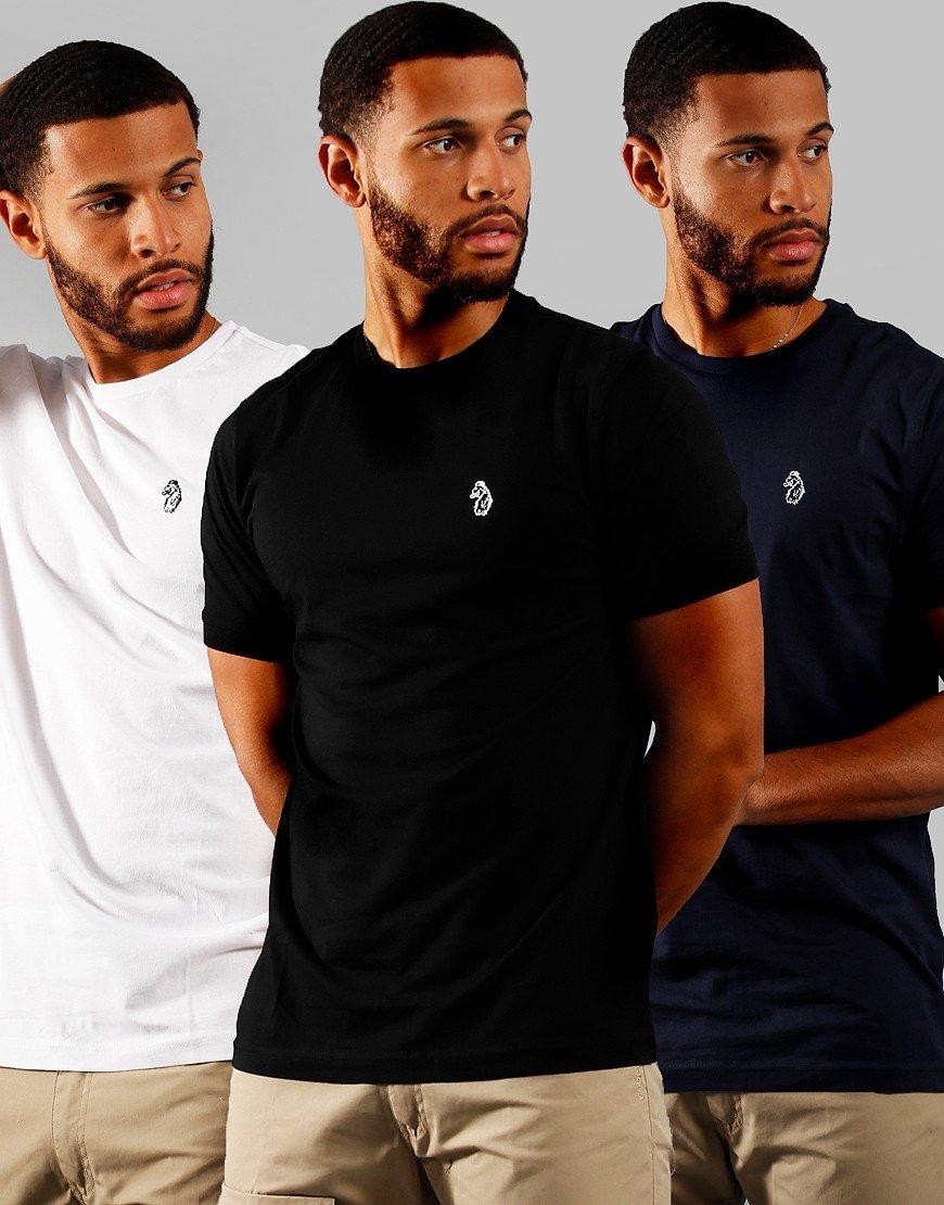 Luke 1977 Johnys 3 Pack T-Shirts Black/White/Navy