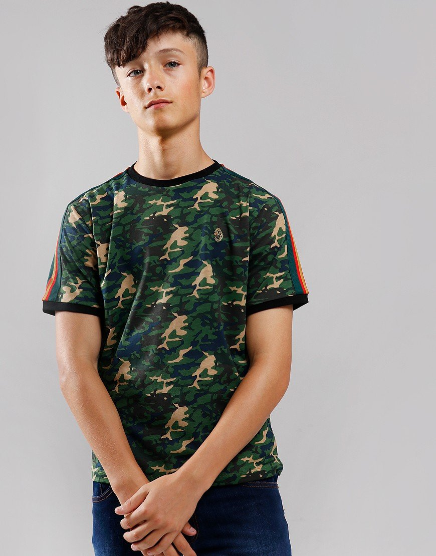 Luke 1977 Kids Top Irons T-Shirt Brit Woodland Camo