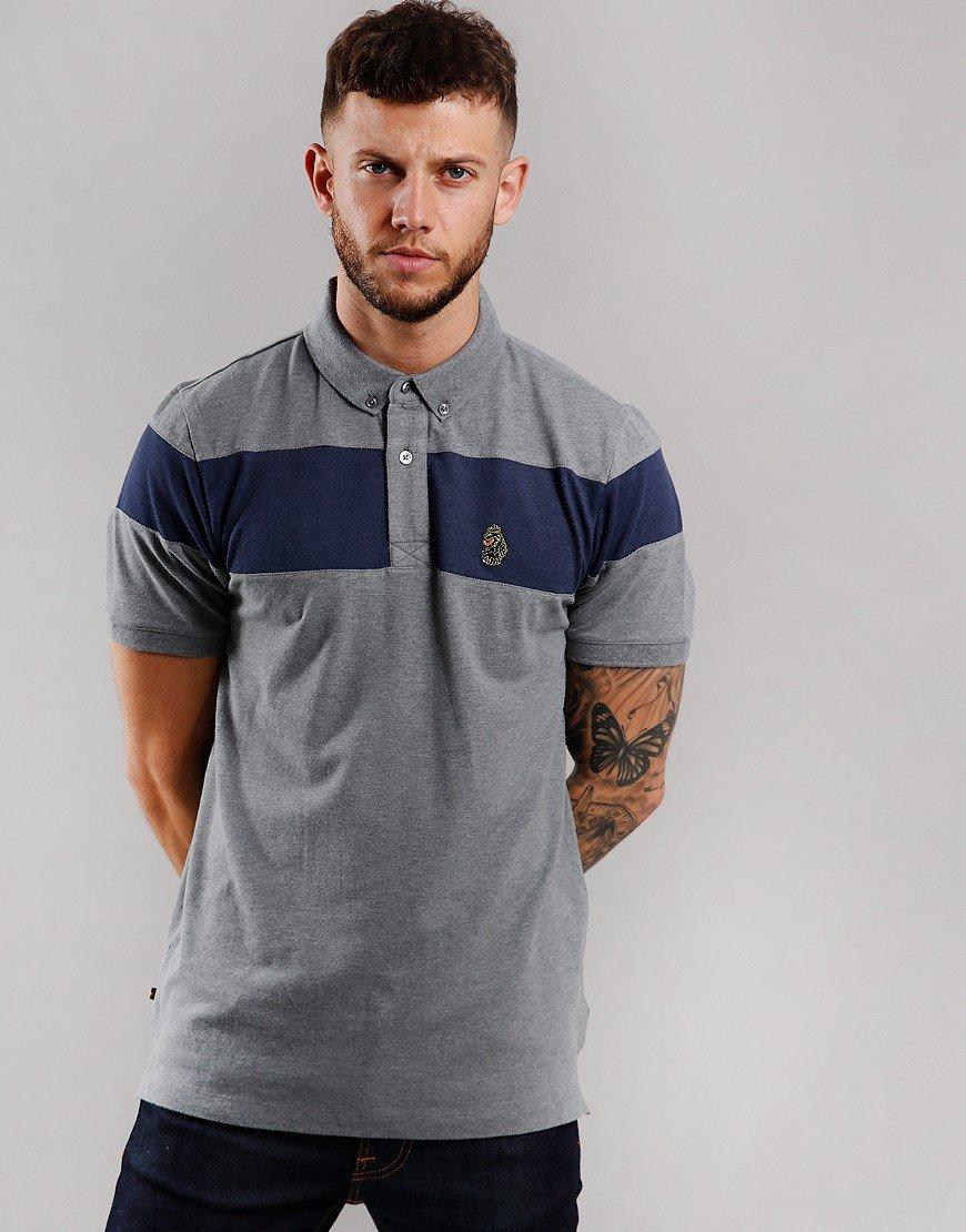 Luke 1977 Sharkey Polo Shirt Mid Grey