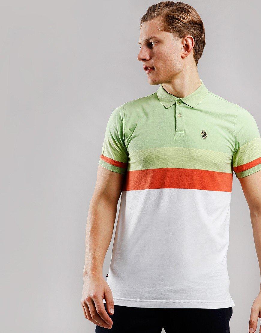 Luke 1977 Shuffle Polo Shirt Pear Green White