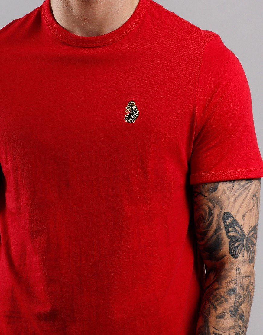 Men/'s Luke 1977 Trouser Snake Crew Neck T-Shirt In Red