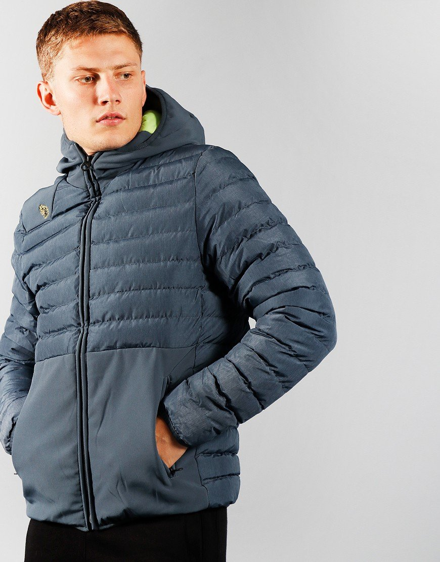 Luke 1977 Bubbla Quilted Jacket Blue Marle