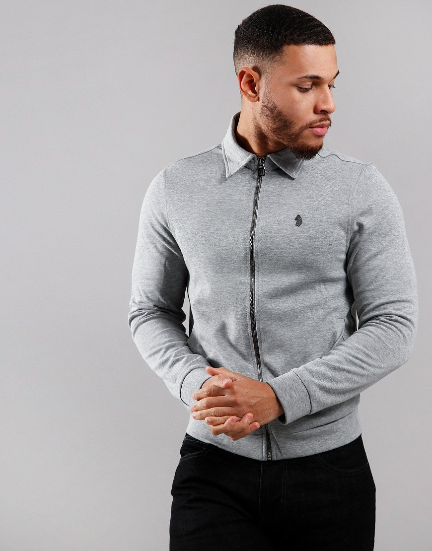 Luke 1977 Check Yourself Full Zip Sweat Mid Marle Grey