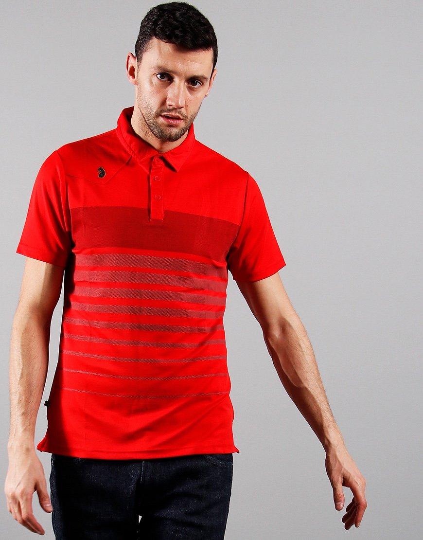 Luke 1977 Eastoe Polo Shirt Marina Red Mix