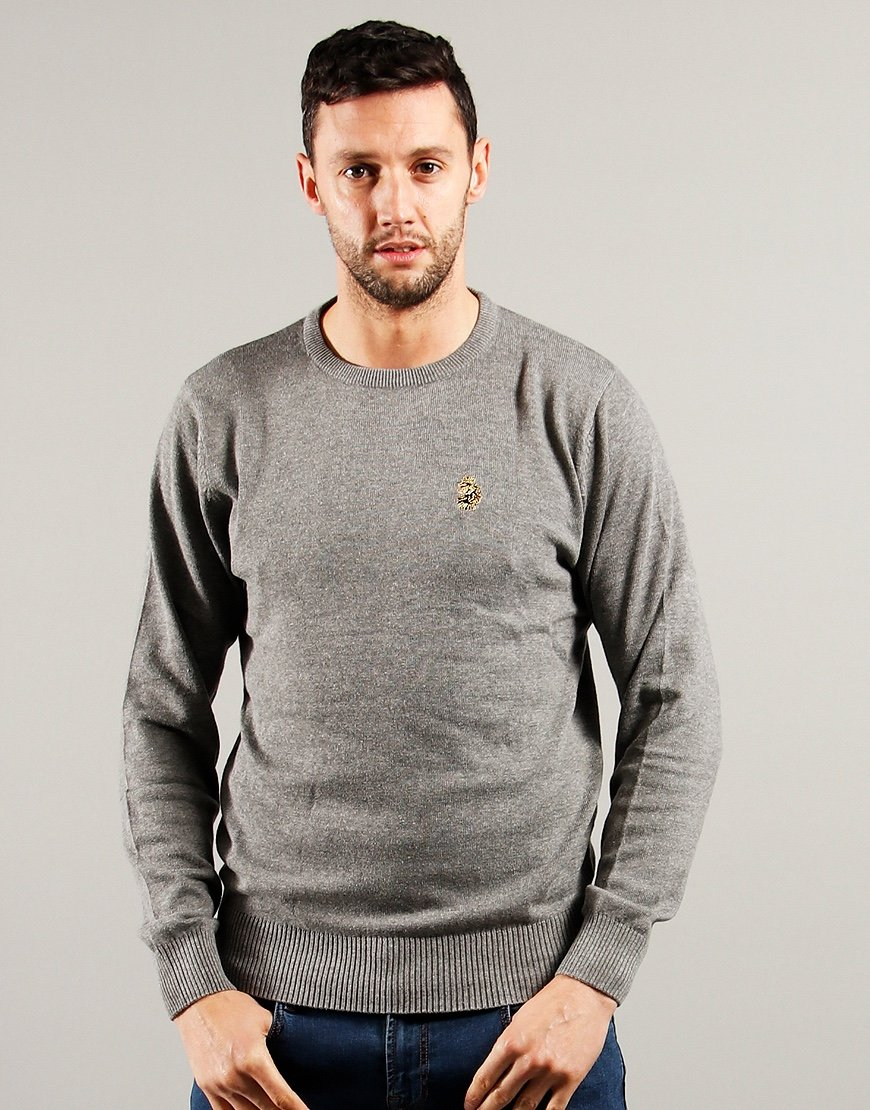Luke 1977 Gerard 3 Crew Knit Grey