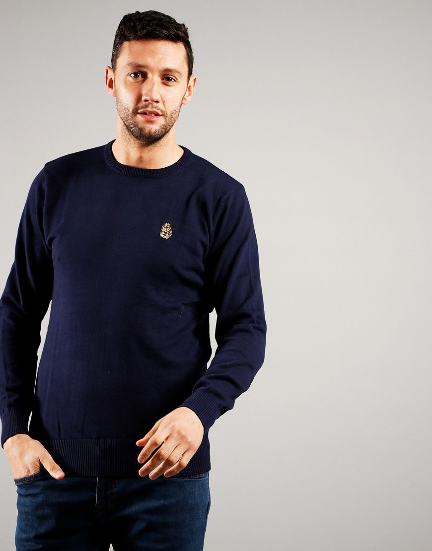 Luke 1977 Gerard 3 Crew Knit Dark Navy
