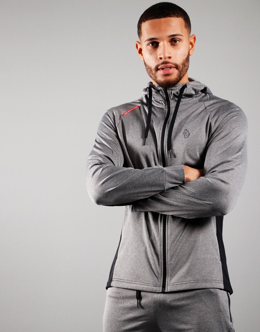 Luke 1977 Key Luke Track Top Marl Light Grey