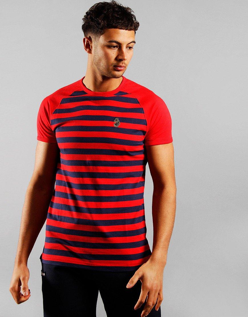 Luke 1977 Raglan Stripe T-Shirt City Red