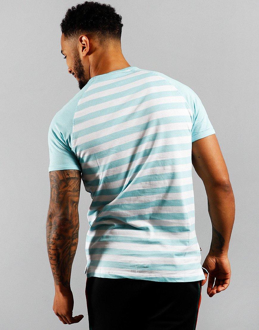 Luke 1977 Raglan Stripe T-Shirt Pure Sky