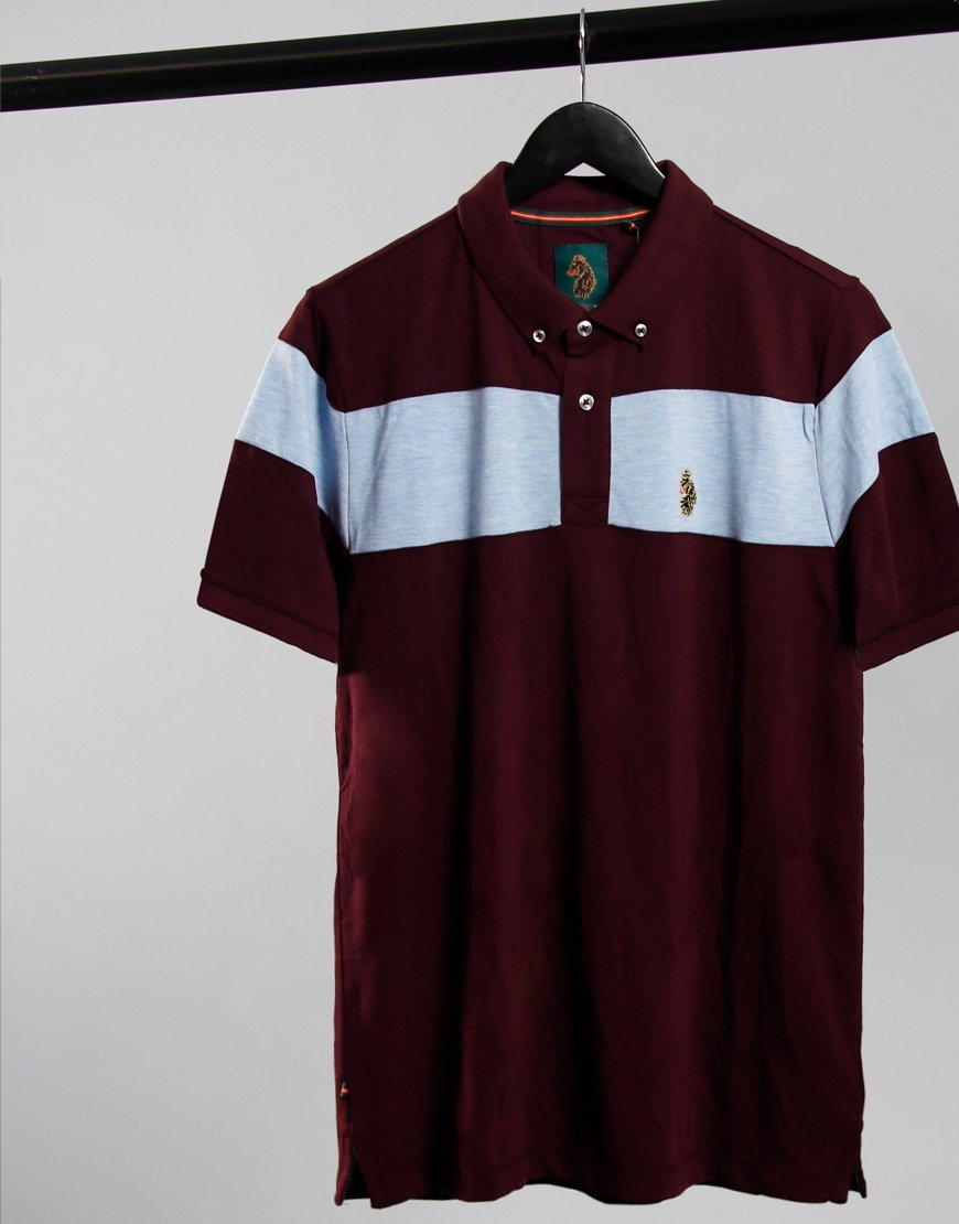 Luke 1977 Sharkey Polo Shirt Claret