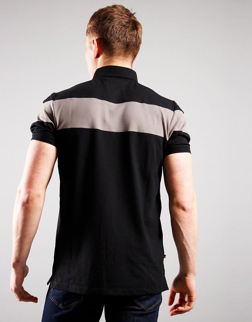 Luke 1977 Sharkey Polo Shirt Black Mid Grey