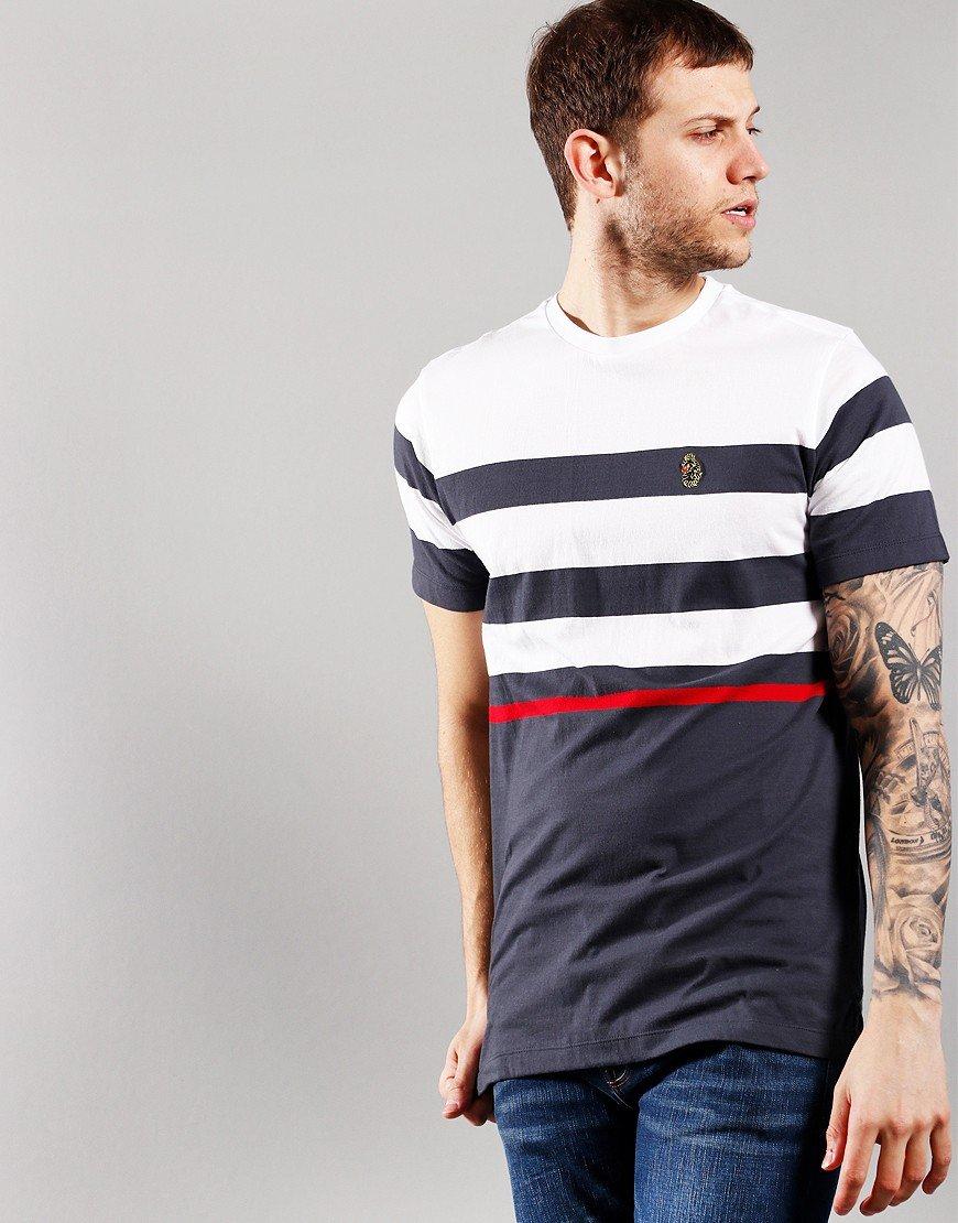 Luke 1977 Stride Stripe T-Shirt Charcoal Mix
