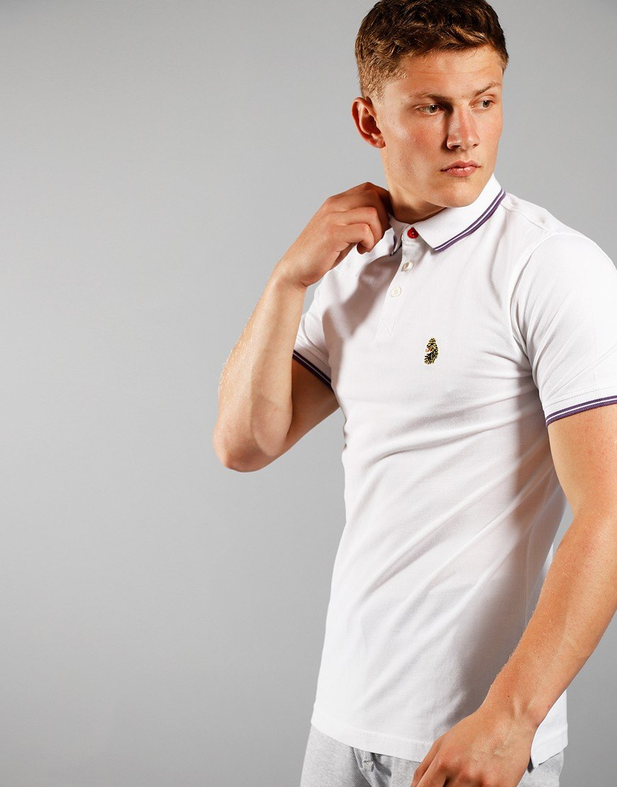 Luke 1977 Tip Off Polo Shirt White
