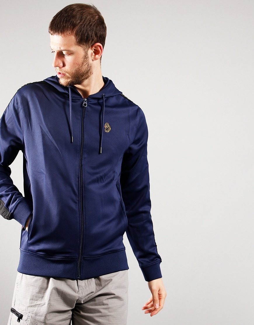 Luke 1977 TTTHS Taped Hooded Track Top Navy