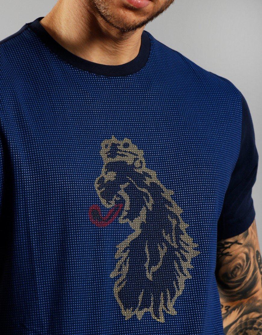 Luke 1977 Spliono Tone Print T-Shirt Navy