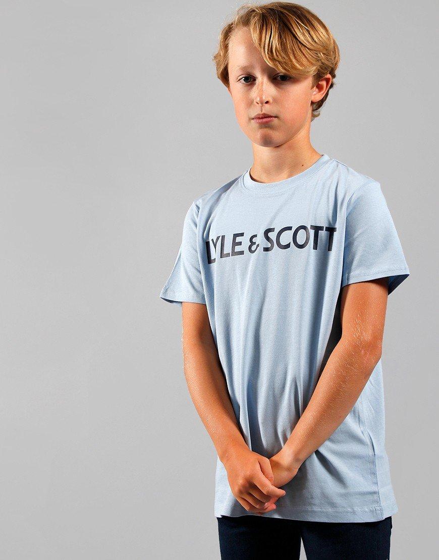 Lyle & Scott Junior Text T-Shirt Chambray Blue