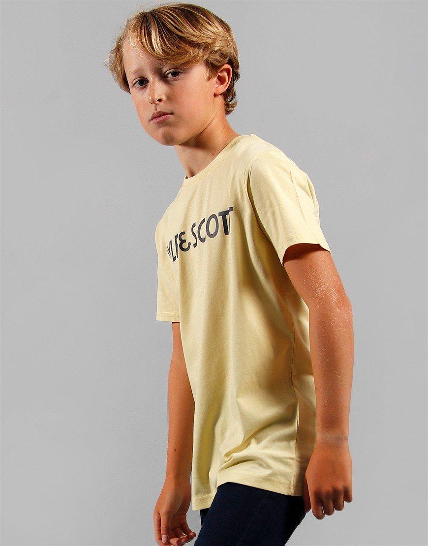 Lyle & Scott Junior Text T-Shirt French Vanilla