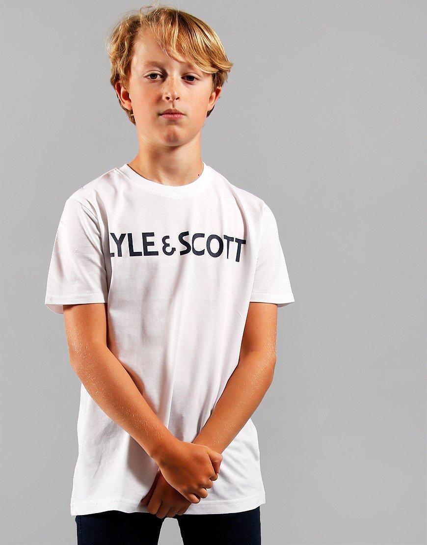 Lyle & Scott Junior Text T-Shirt Bright White
