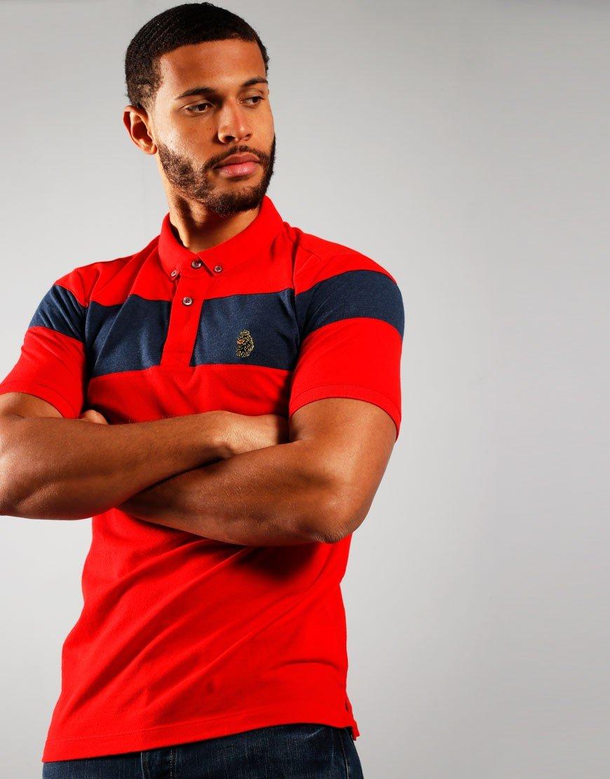 Luke 1977 Sharkey Polo Shirt Sport Red