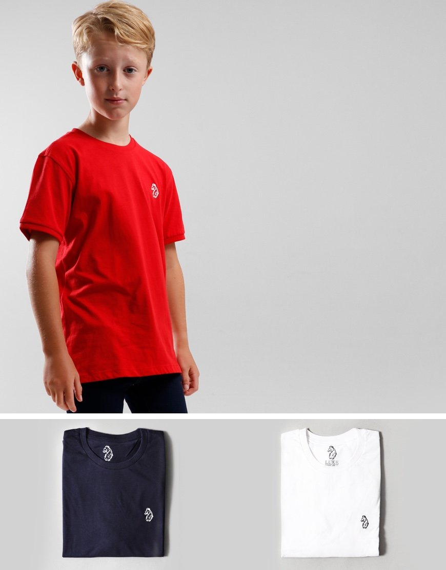 Luke 1977 Kids Johnys 3 Pack T-Shirts Navy/Red/White