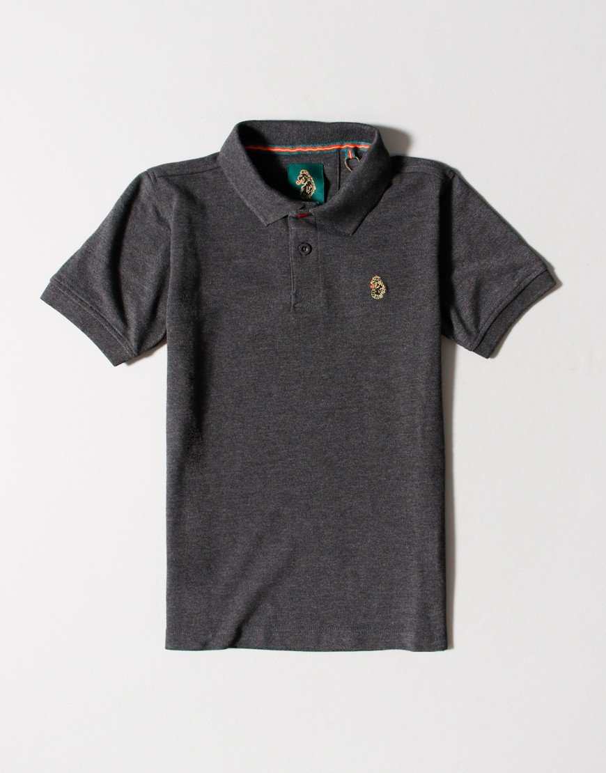 Luke 1977 Kids Williams Polo Shirt Charcoal