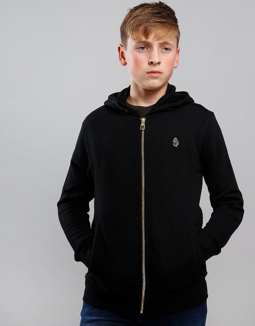 Luke 1977 Kids Kevlarge Hooded Zip Sweat Black